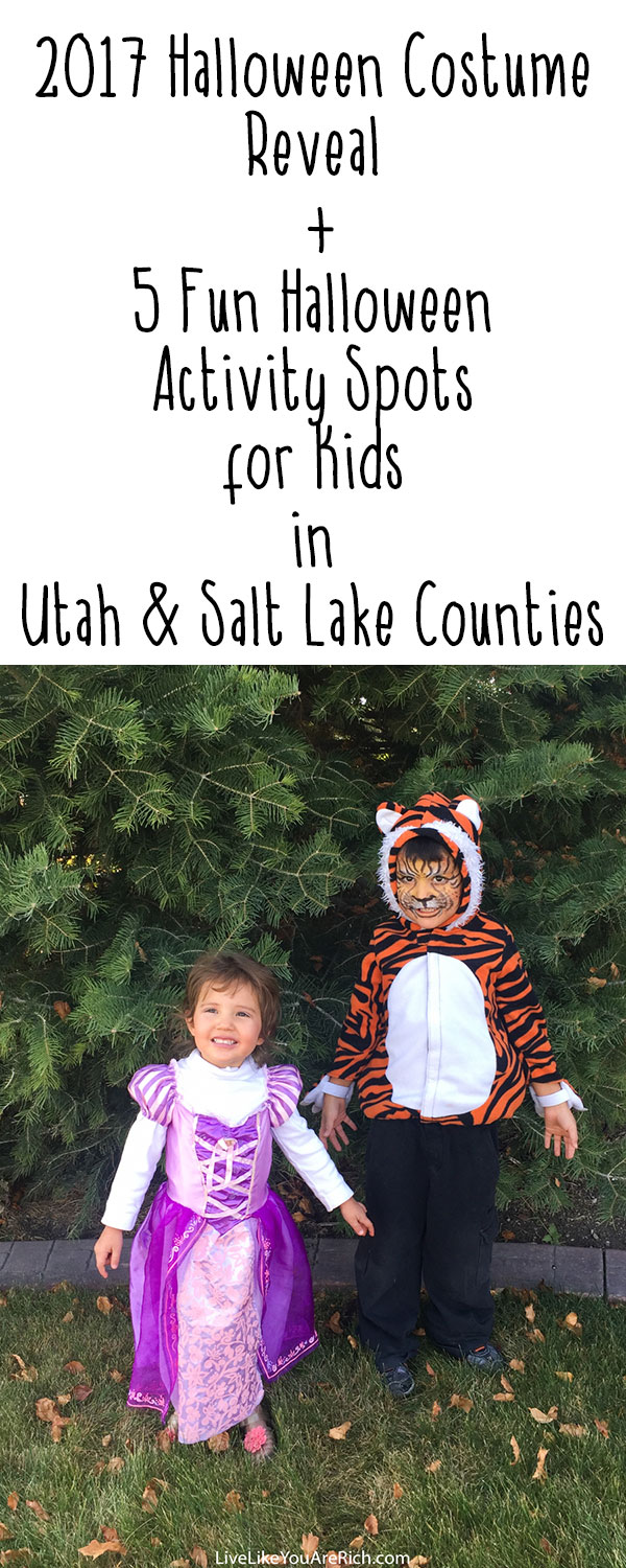 2017 Halloween Costume Reveal + 5 Fun Halloween Activity Spots for Kids in Utah & Salt Lake Counties
