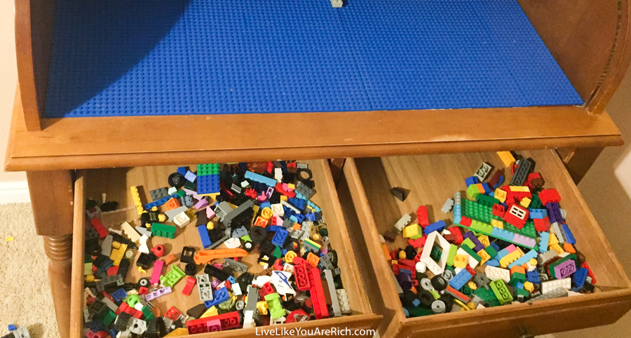 DIY Lego Roll Top Desk