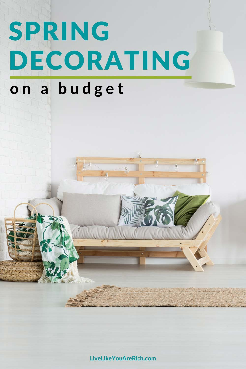 Spring is finally here and I couldn't be more excited. Here is 3 Easy Ways to Save on Springtime Decorating.This has been a long hard winter at our home and spring brings with it a fresh start to life for us. #spring #homedecor #savemoney