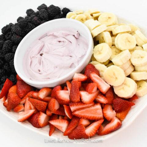 Quick Cream Cheese Yogurt Fruit Dip