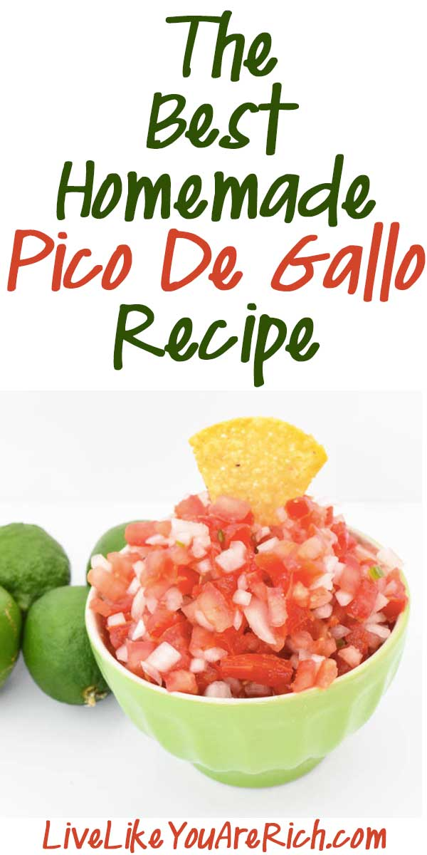 The Best Homemade Pico De Gallo Recipe