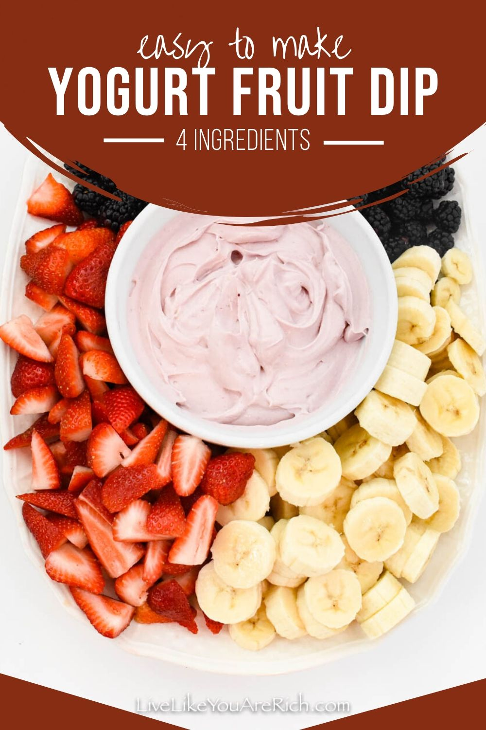 This Quick Cream Cheese Yogurt Fruit Dip is healthy fruit dip for the entire family to enjoy. It made with only 4 ingredients. This is also a very fitting dish for all kinds of occasion.