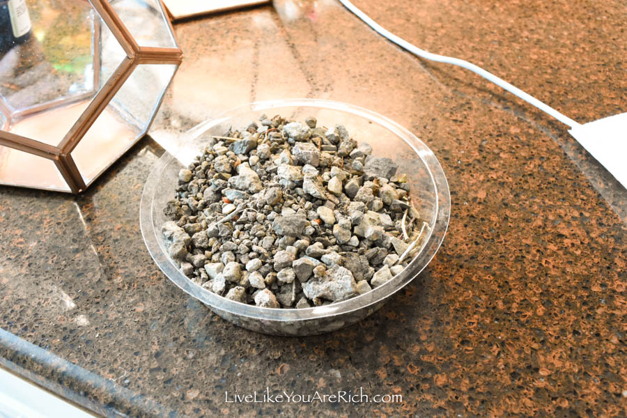 rocks for DIY Copper Geo Terrariums