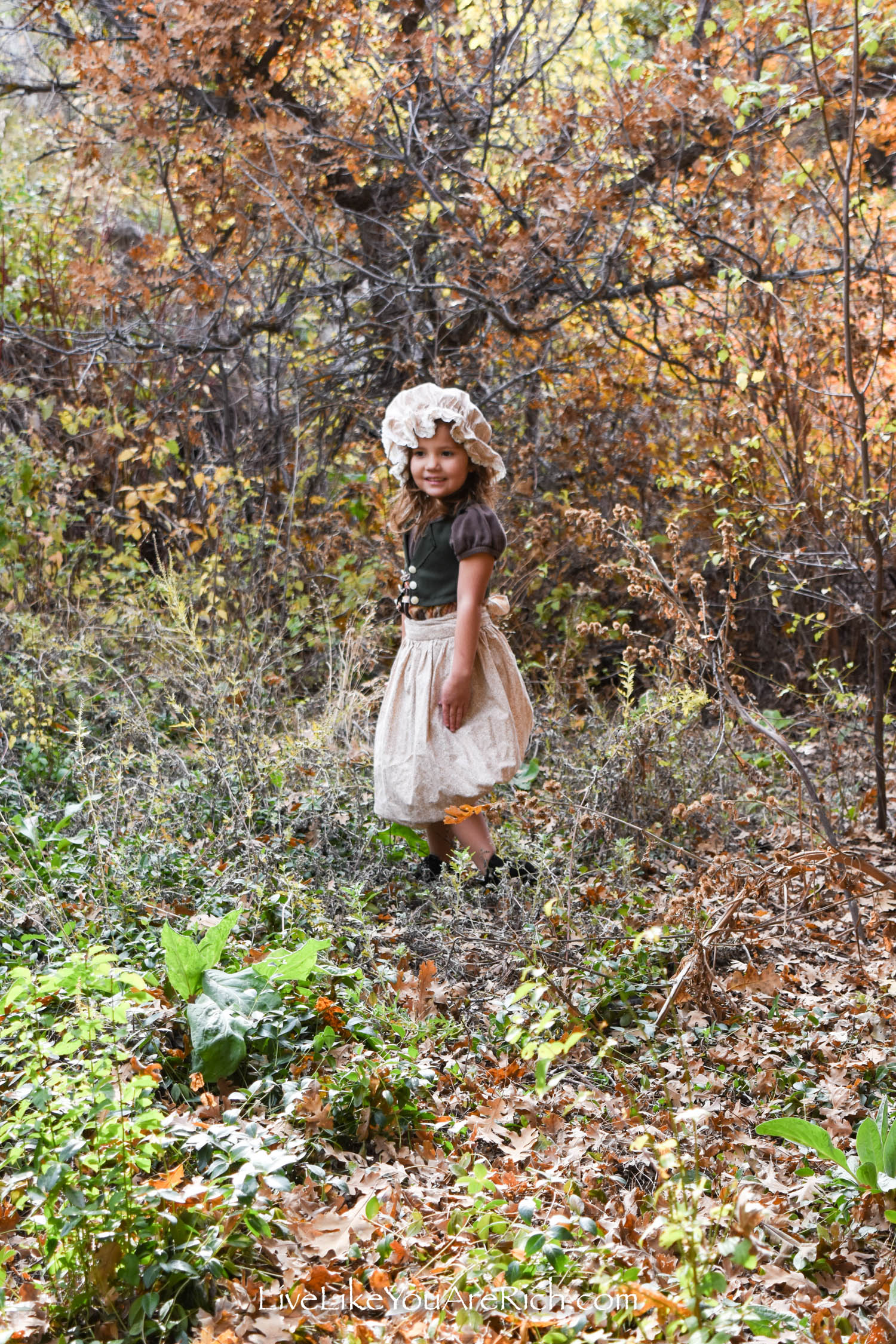 Gretel in forest