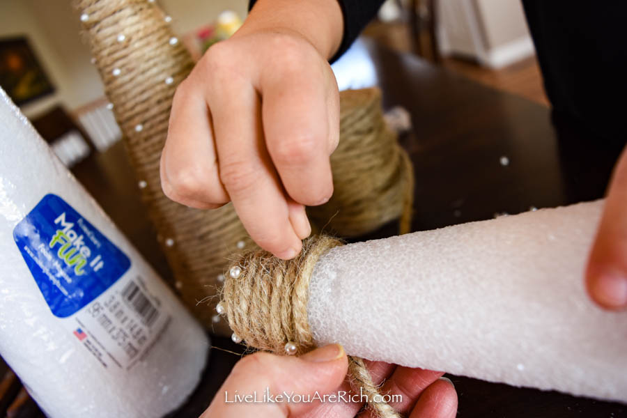 DIY Jute Christmas Trees