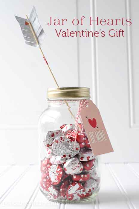 Jar of Hearts Valentine Gift