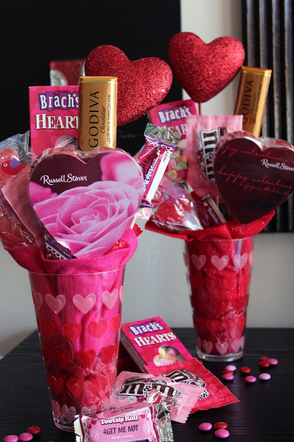 Valentine Candy Bouquet | Valentine's Day ideas ... |Valentines Cotton Candy Bouquet Ideas