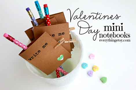 Valentines dDay mini-notebooks