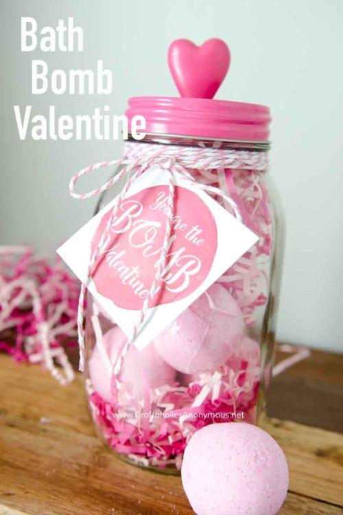 Bath Bomb Valentine Free Printable