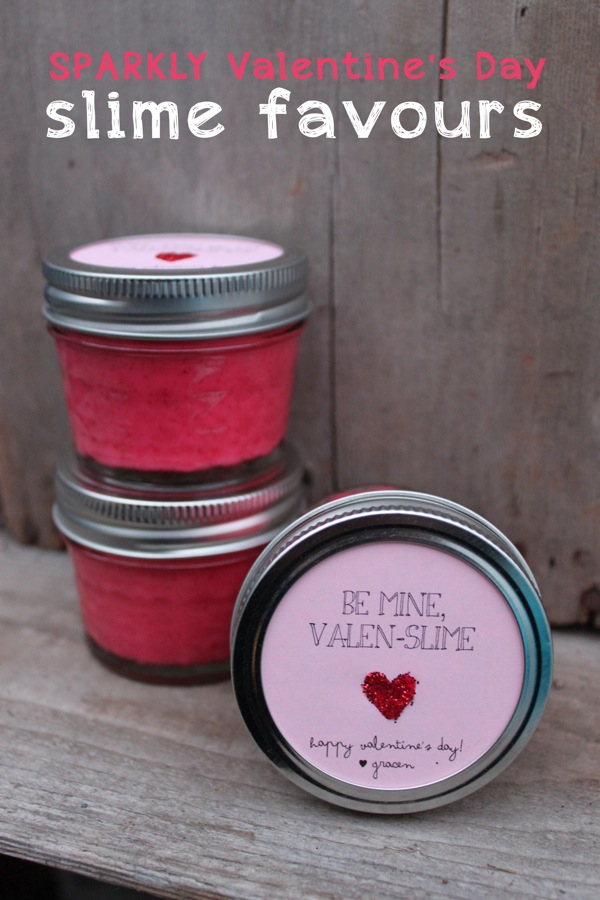 Sparkly Valentines Day Slime Favours