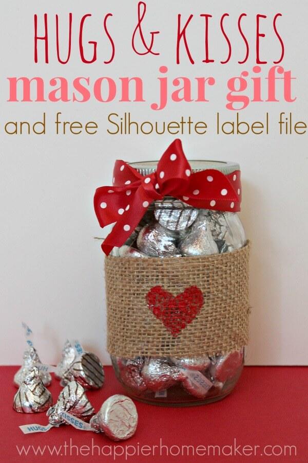 Valentines Mason Jar Gift