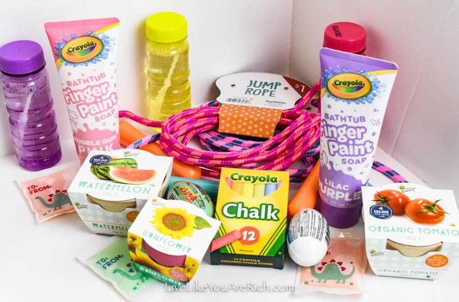 $10 Outdoor-Activities Easter Baskets {Candy Free}