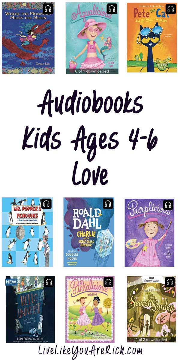 Audiobooks kids ages 4-6 love