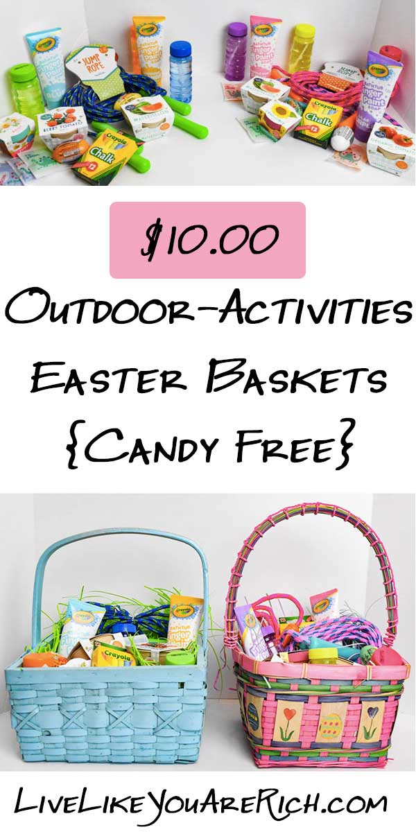 $10.00 Outdoor-Activities Easter Baskets (Candy Free)