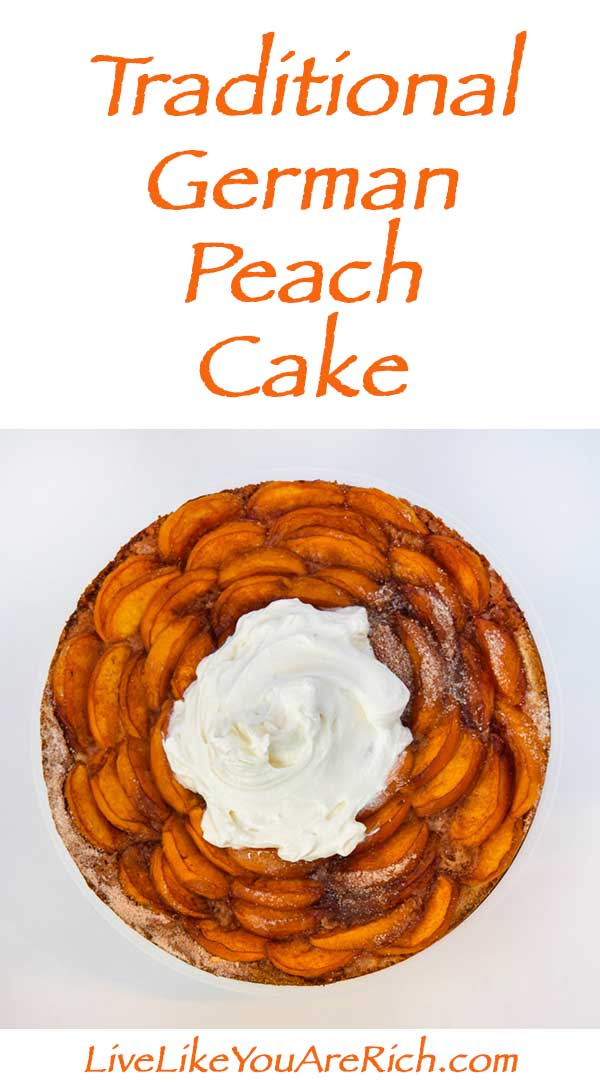 Traditional German Peach Cake