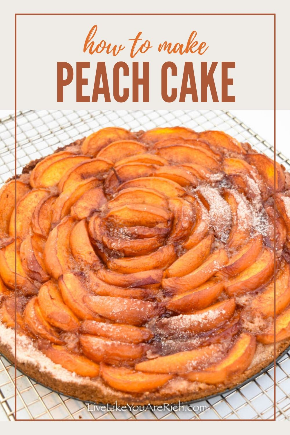 This Homemade German Peach Cake recipe is a combination of a deliciously moist lemon tart topped with sweet peaches baked to perfection. It is easy to make. My family and friends really love it.