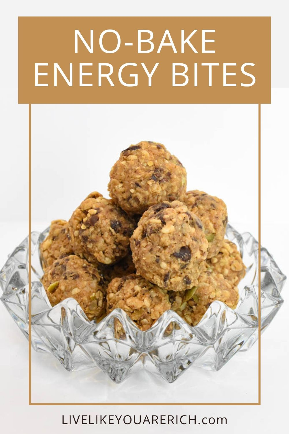 I've been making these super yummy no-bake healthy energy bites for years. They are easy to make, they have protein and fiber and yet are sweet enough to satisfy a sugar craving. This is a great snack for kids and the whole family.