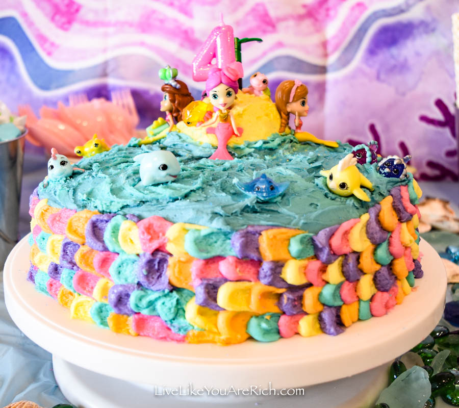 Mermaid Under the Sea Party: Food - Mermaid Cake 3