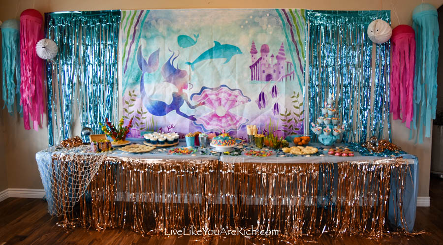 Mermaid Under the Sea Party: Food - Mermaid Cake