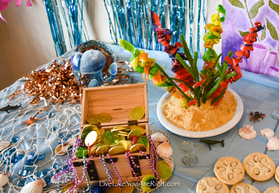 Mermaid Under the Sea Party: Food - Coral Reef Candy Creation