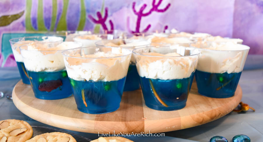 Mermaid Under the Sea Party: Food - Jello Seascapes