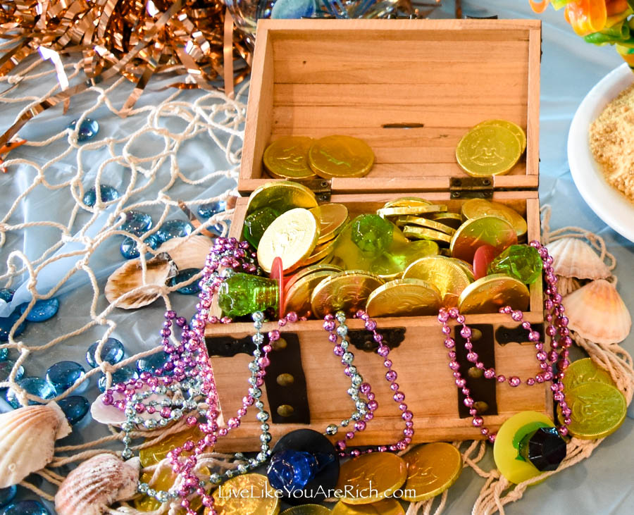 Mermaid Under the Sea Party: Food - Treasure Chest