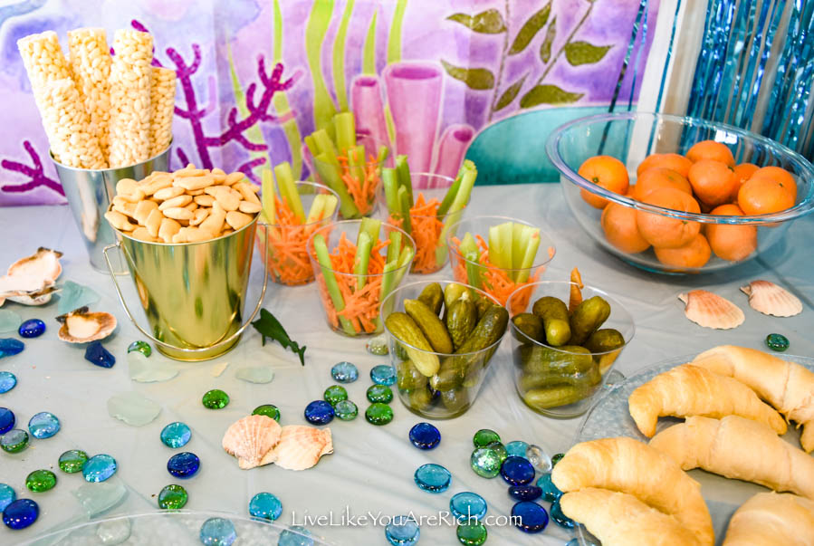 Mermaid Under the Sea Party: Food - Corn Puff Roll