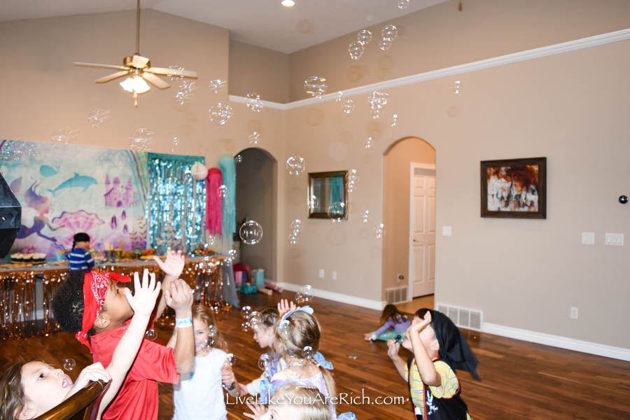 bubble popping under the sea party game