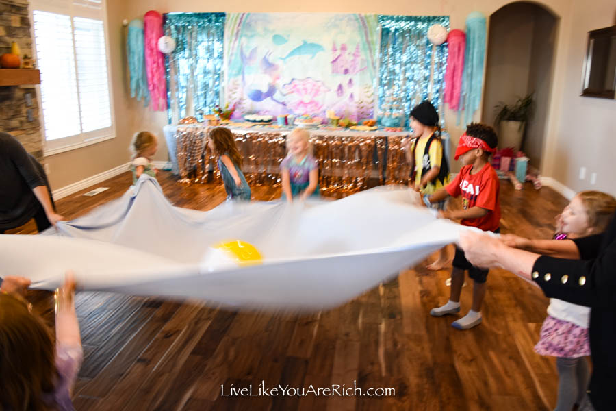 beach ball mermaid party game
