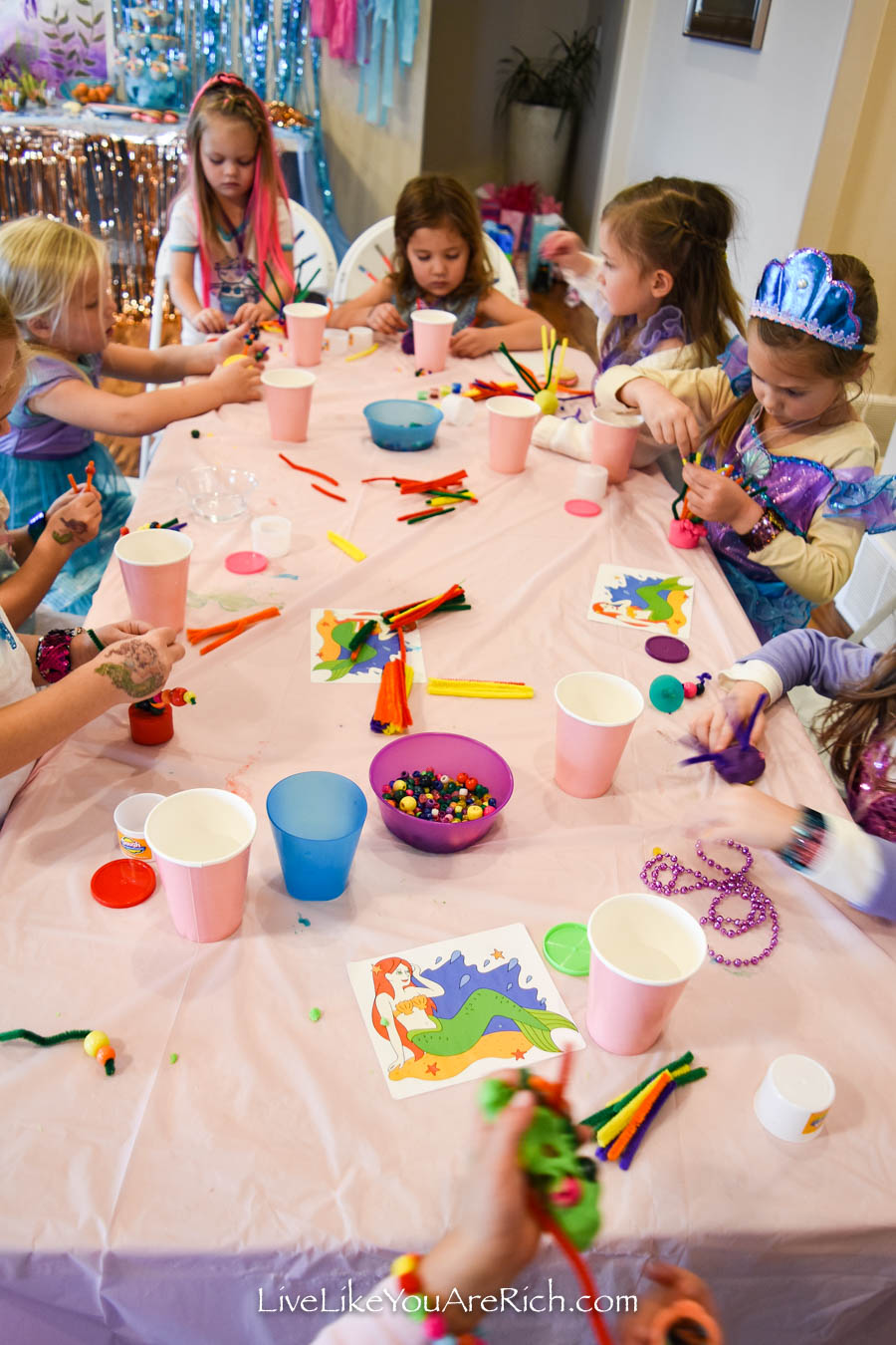 activities for under the sea mermaid party