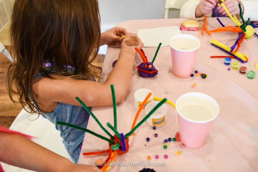 mermaid party games and activities coral reef building