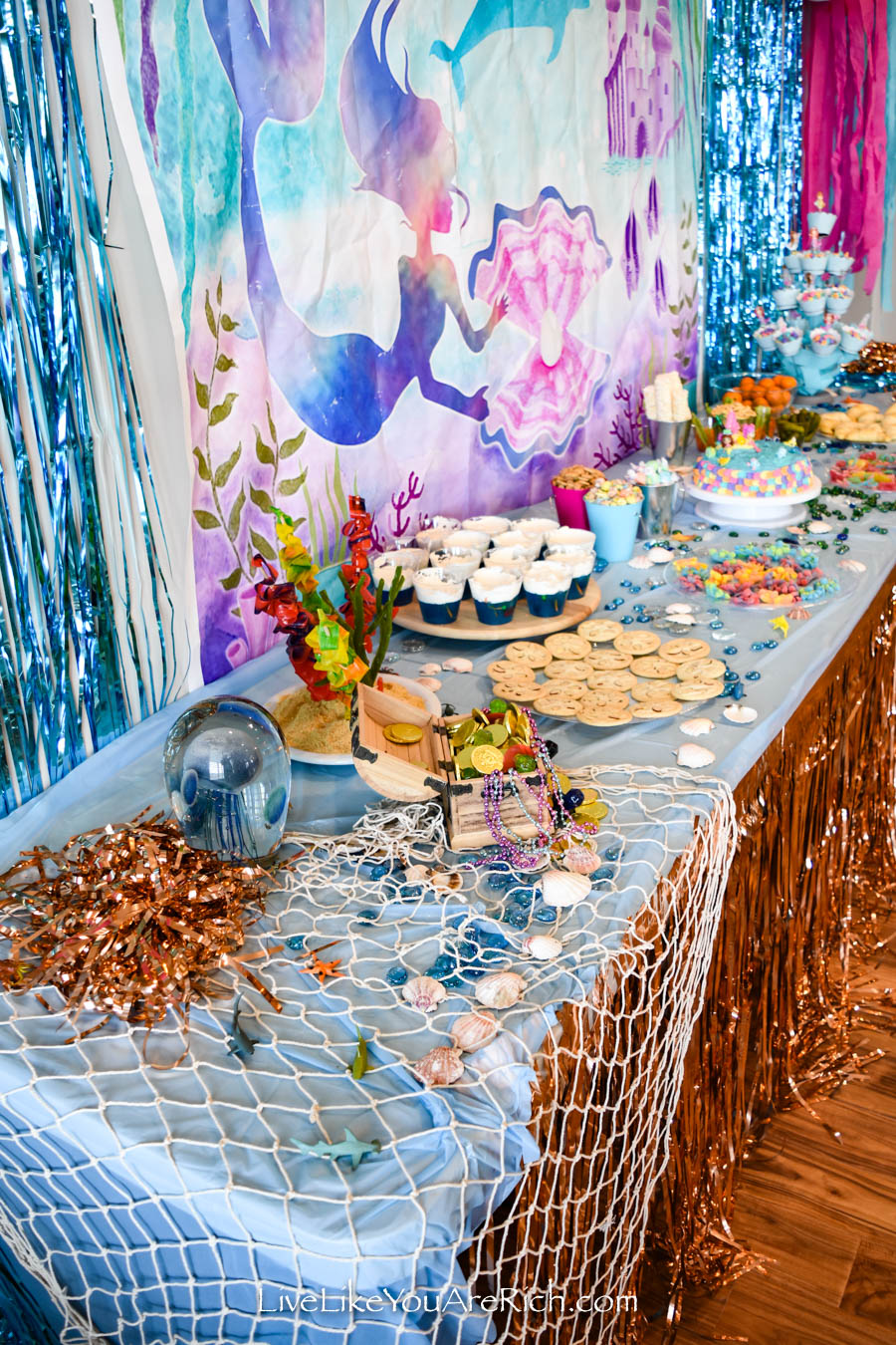 Mermaid Under the Sea Party: Food - Mermaid Backdrops