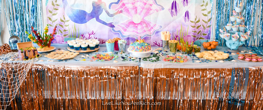 food for Mermaid Under the Sea Party