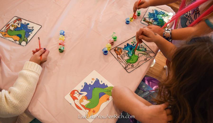 water color painting mermaids