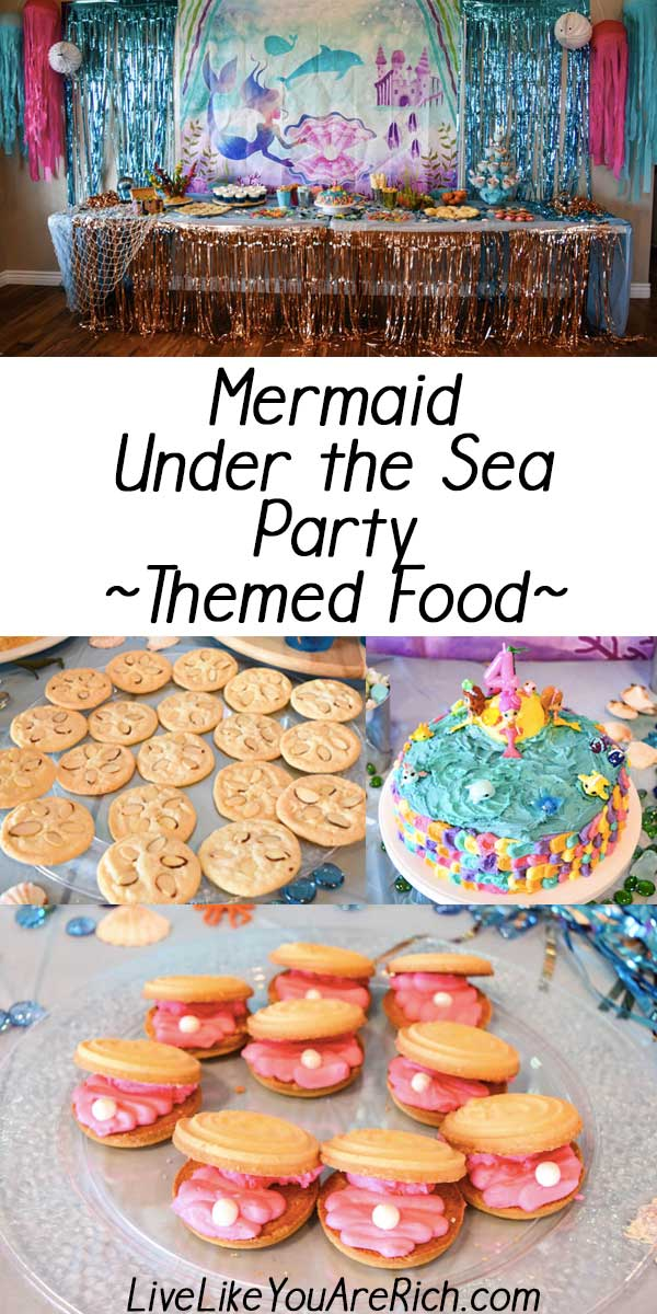 Mermaid Under the Sea Party: Food. #livelikeyouarerich #birthday #mermaid #partytheme