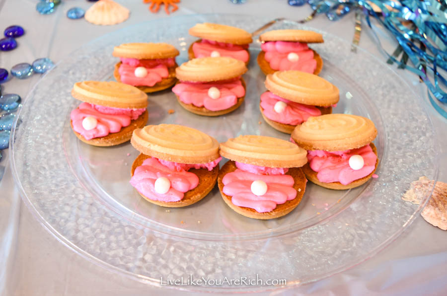 Mermaid Under the Sea Party: Food - Clam Cookies with Pearl