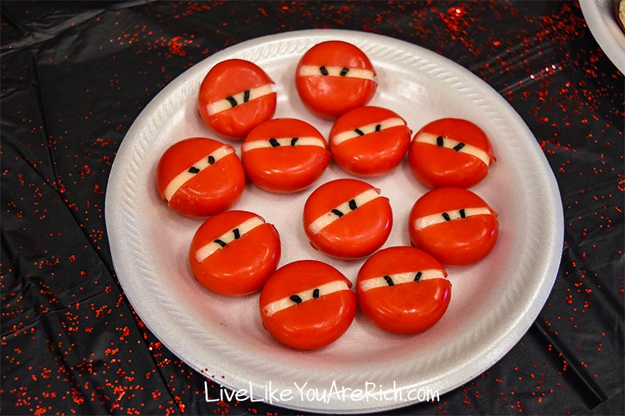 babybel cheese ninja faces