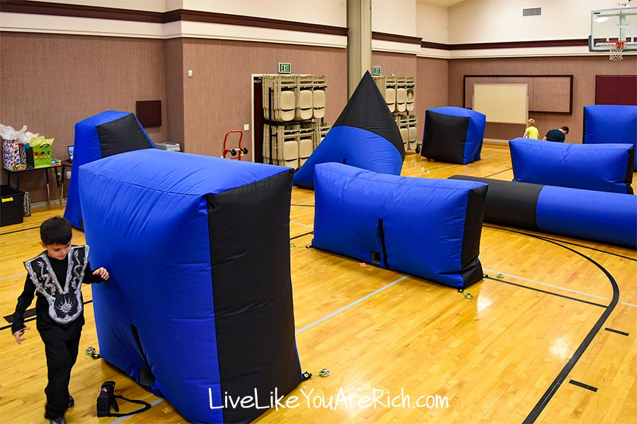 Epic Party Events Utah laser tag set up in church gym