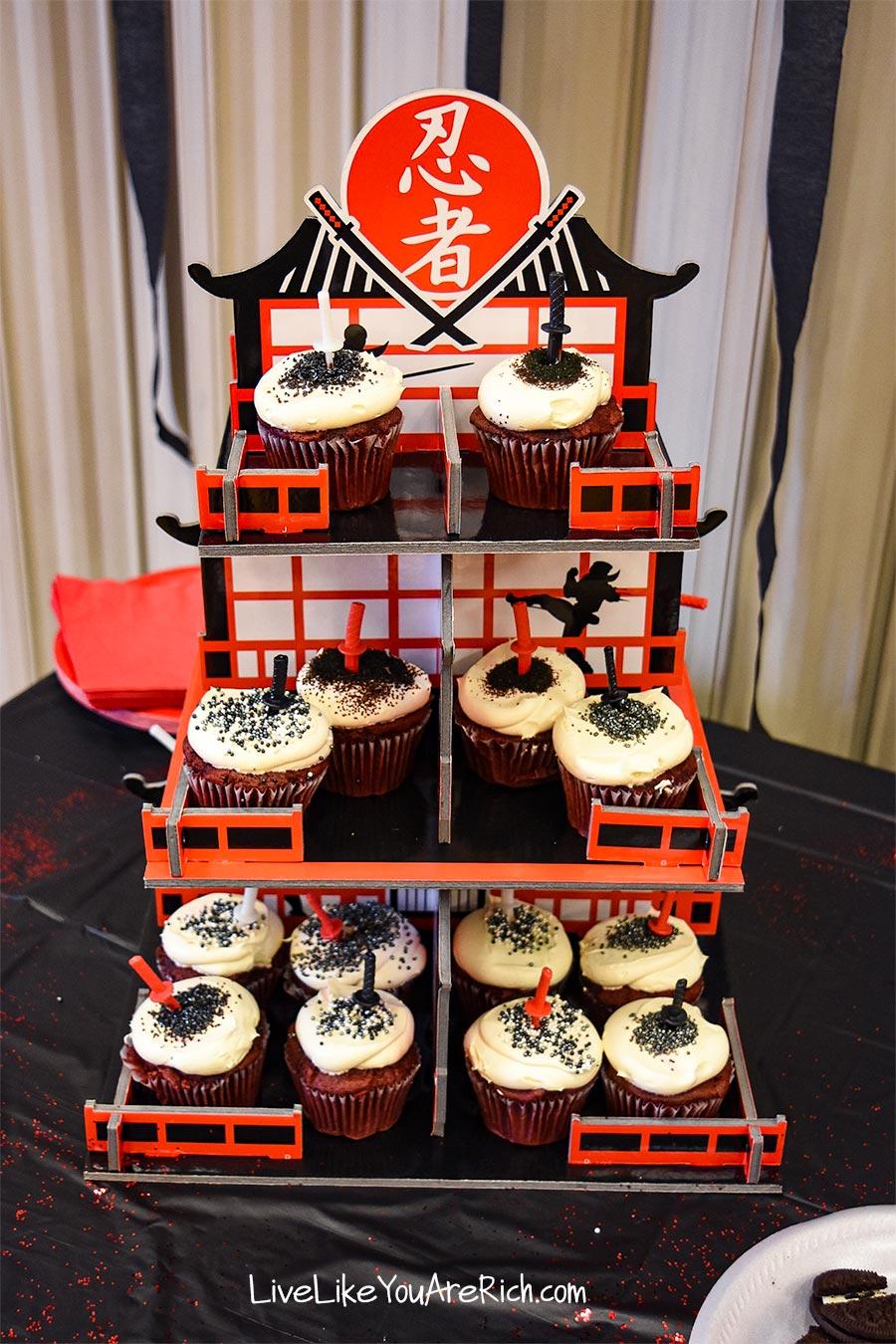 ninja cupcake stand