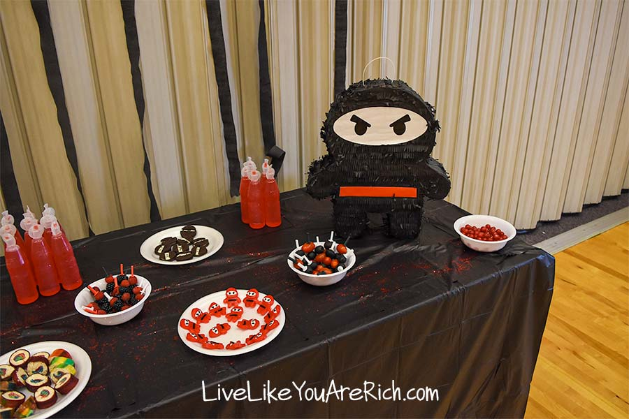 food for ninja themed party