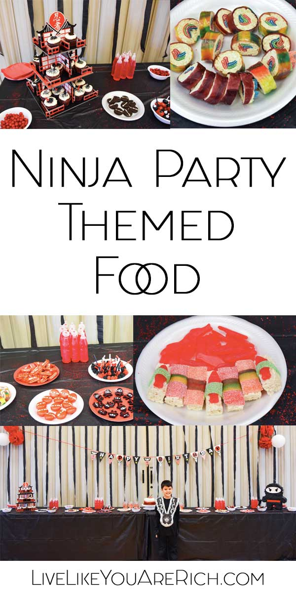 Ninja Party for Boys themed food