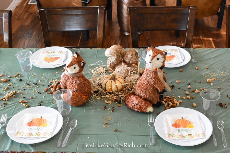 Thanksgiving Tablescape for kids Centerpiece