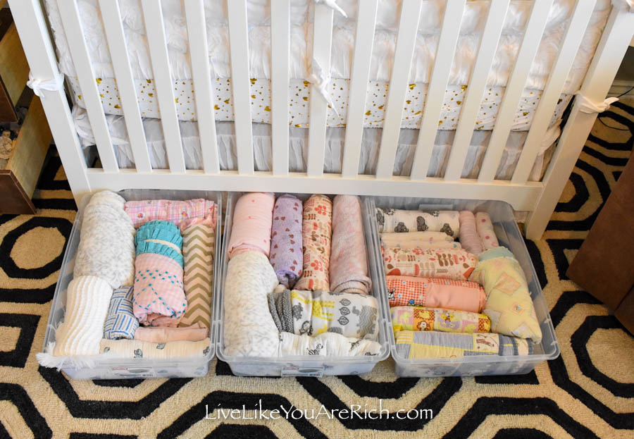 under crib storage