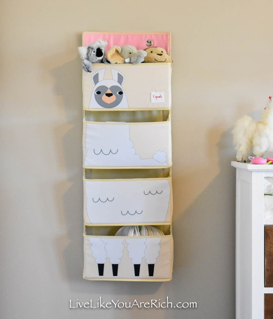 llama wall storage tote