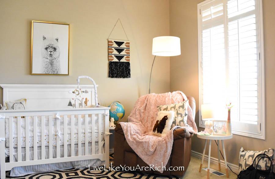 Baby Girl Llama Alpaca Nursery