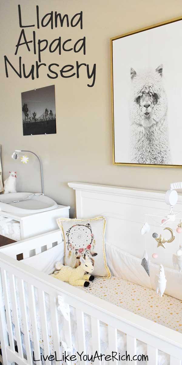 llama alpaca nursery