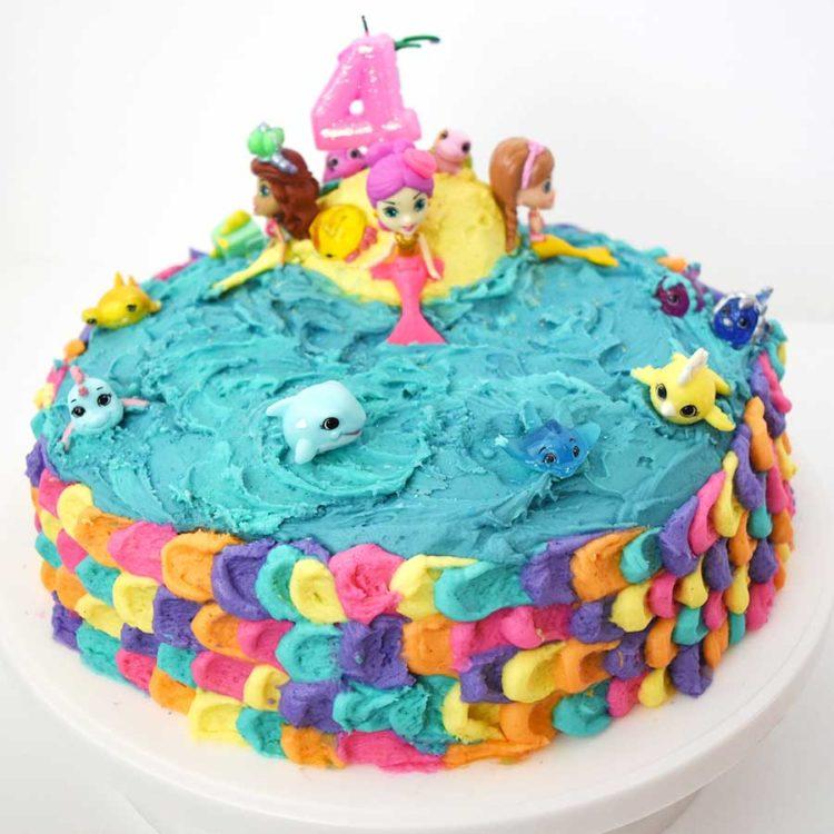 How to Make a Mermaid Cake and Mermaid Coral Cupcakes