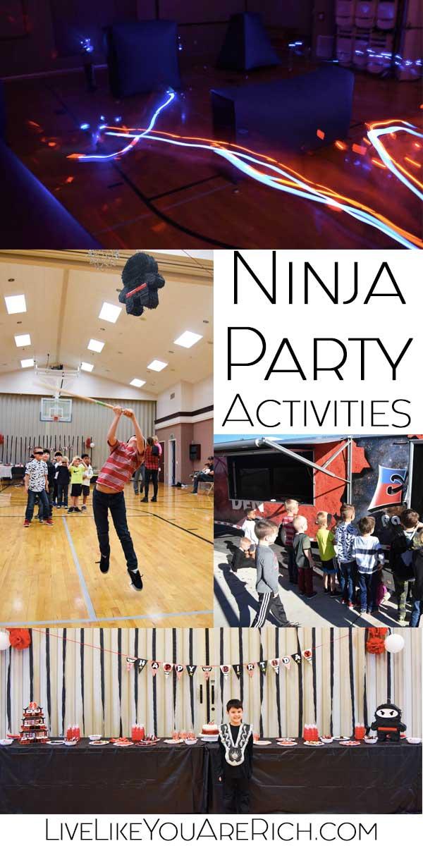 Ninja Party Activities