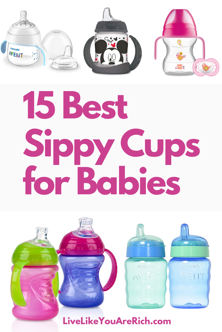 15 Best Sippy Cups for Babies. When it's time for your baby to transition from breast feeding or bottles to cups, sippy cups are the way to go. Here is a round up of 15 Best Sippy Cups for Babies. #sippycups #cups