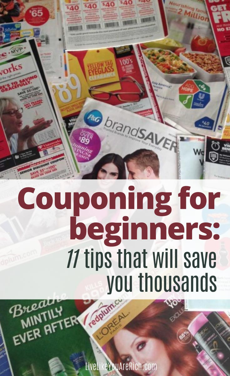 Couponing for Beginners: 11 tips that will save you thousands. #couponing #savemoney